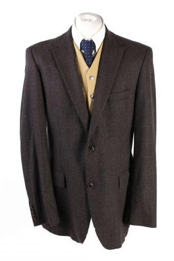 Hugo Boss Blazer Jacket 90s Retro Dark Brown XL