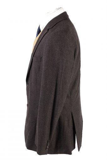 """Vintage Hugo Boss Classic Blazer Jacket Chest 44"""" Dark Brown HT2682-121582"""
