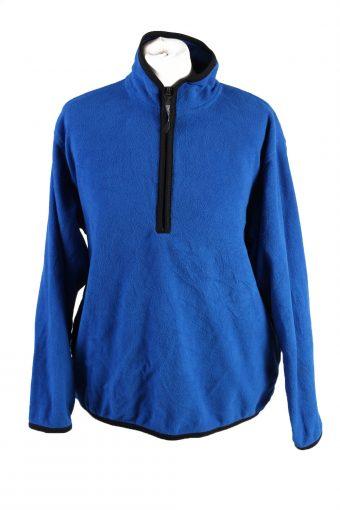 Fleece Track Top Sweatshirt USA Olmypic High Neck Blue L