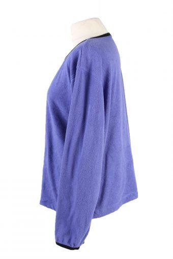 Vintage Fleece Sweatshirt Purple -SW2399-119460