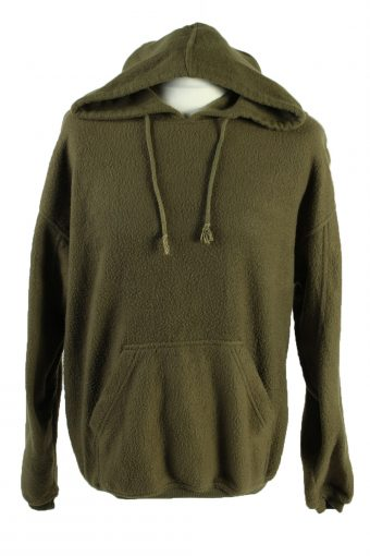 Fleece Sweatshirt Round Neck 90s Khaki M