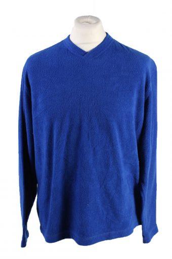 Fleece Sweatshirt V Neck 90s. Old Navy Blue S