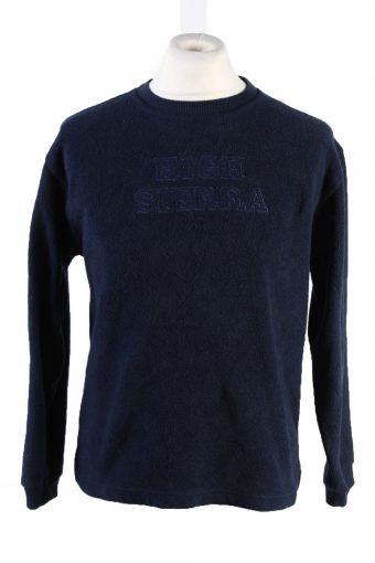 Fleece Sweatshirt High Neck 90s Black XL