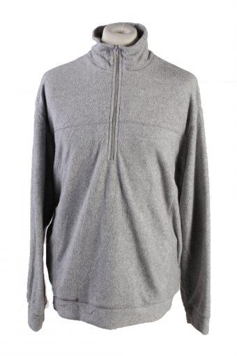 Fleece Sweatshirt High Neck 90s Grey XL