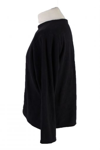 Vintage Fleece Sweatshirt Black -SW2420-119413