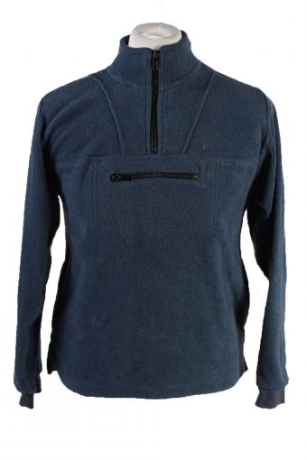 Fleece Sweatshirt High Neck 90s Turquoise Green 13-14 Years
