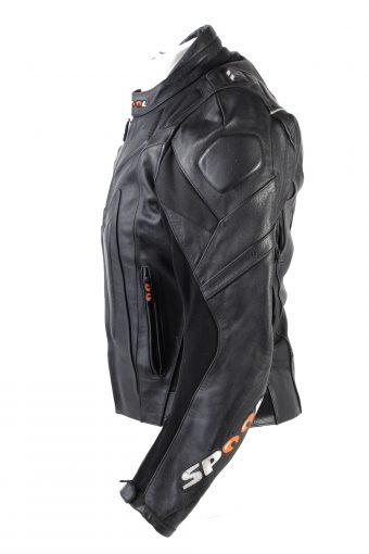Vintage Spool Genuine Leather Motorcycle Jacket 48 Black -C1777-121966