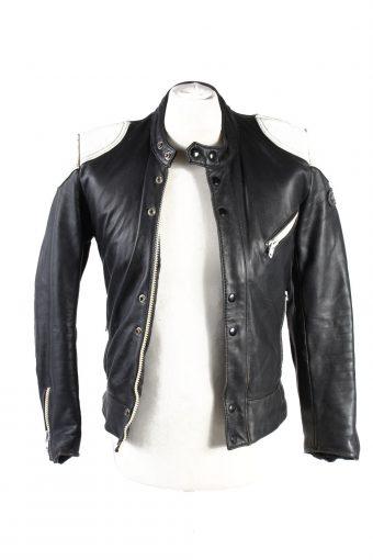 Vintage Hestru Genuine Leather Motorcycle Jacket 46 Multi