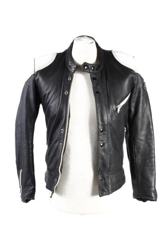 Vintage Hestru Genuine Leather Motorcycle Jacket 46 Multi -C1778-0