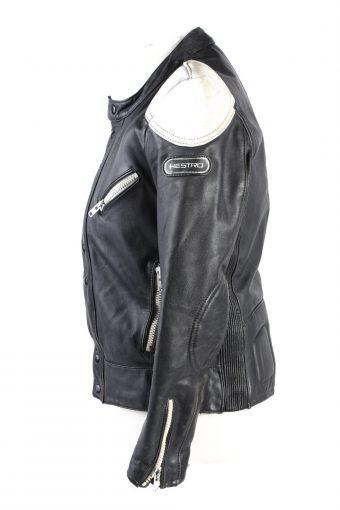 Vintage Hestru Genuine Leather Motorcycle Jacket 46 Multi -C1778-121962