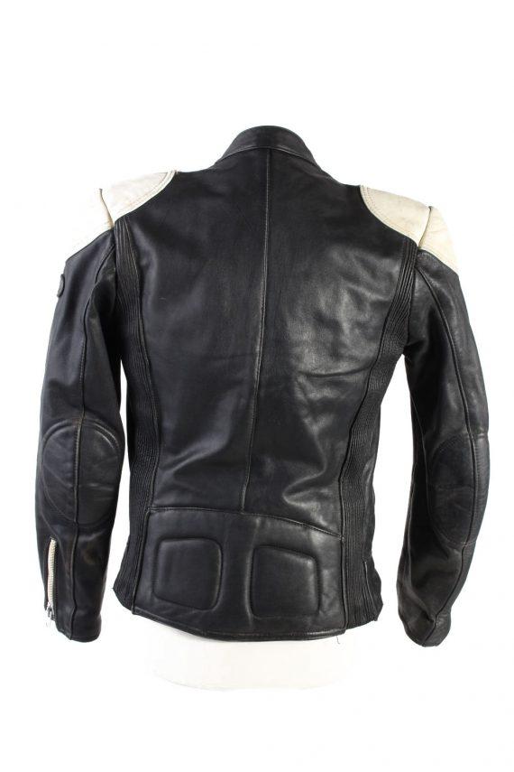 Vintage Hestru Genuine Leather Motorcycle Jacket 46 Multi -C1778-121963