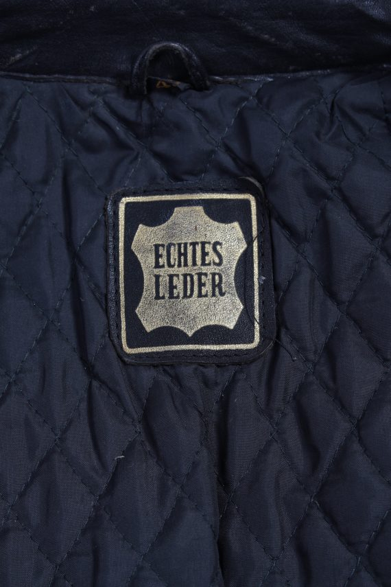 Vintage Hestru Genuine Leather Motorcycle Jacket 46 Multi -C1778-121964