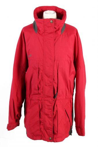 Vintage Columbia Windbreaker Womens Jacket Coat XL Red