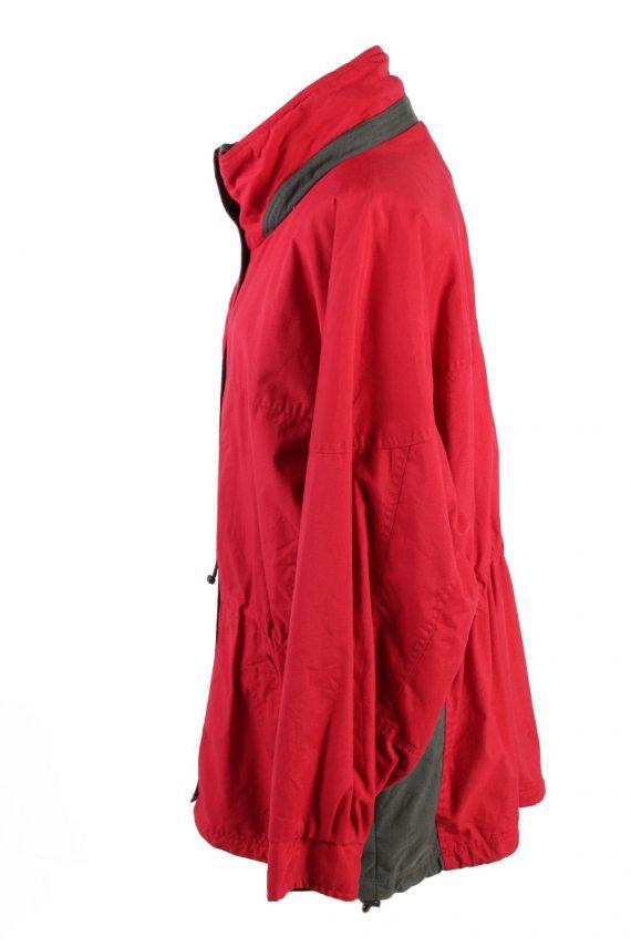 Vintage Columbia Windbreaker Womens Jacket Coat XL Red -C1851-123740