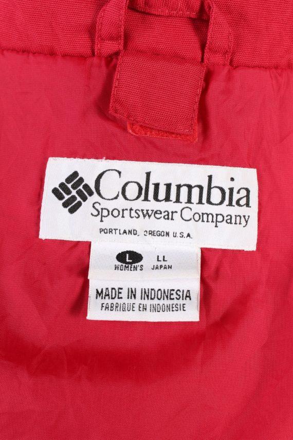 Vintage Columbia Windbreaker Womens Jacket Coat XL Red -C1851-123742