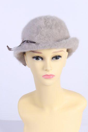 Vintage Angora Soft Fashion Winter Trilby Hat