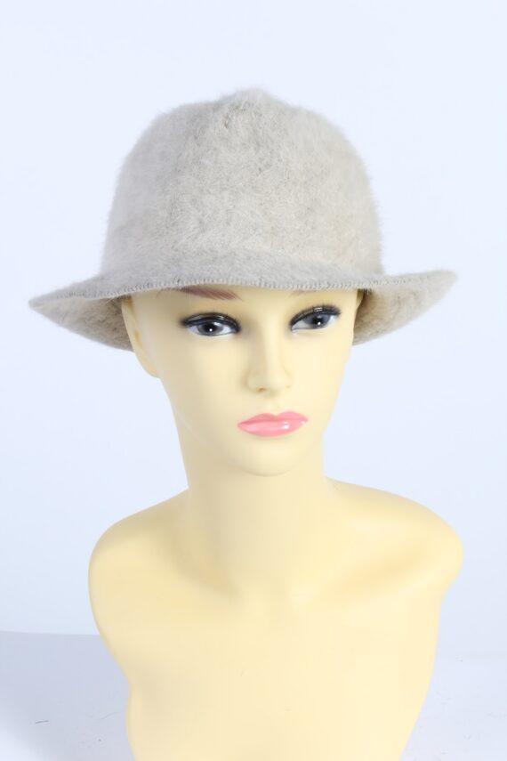 Vintage Mayser Milz 1990s Fashion Winter Trilby Hat Beige HAT1003-0