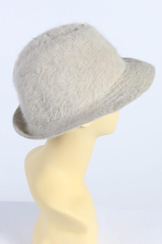 Vintage Mayser Milz 1990s Fashion Winter Trilby Hat Beige HAT1003-122613