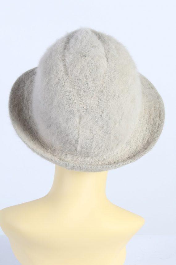 Vintage Mayser Milz 1990s Fashion Winter Trilby Hat Beige HAT1003-122614