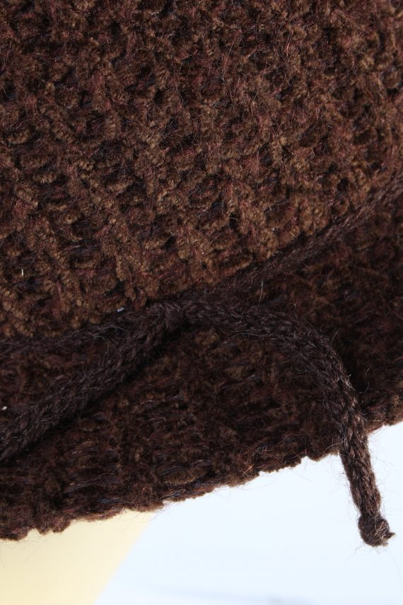 Vintage 1990s Fashion Womens Winter Knit Trilby Hat Brown HAT1027-122785