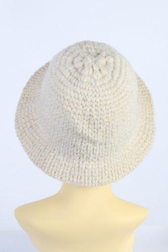Vintage Creation Classique Avenue 1990s Fashion Womens Winter Knit Trilby Hat White HAT1028-122787