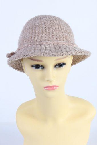 Vintage CA Fashion Womens Winter Knit Trilby Hat