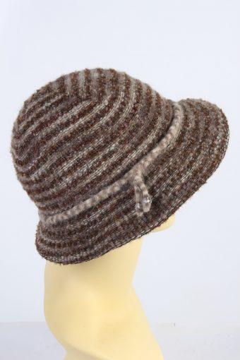 Vintage Kangol Design 1970s Fashion Womens Winter Knit Trilby Hat Brown HAT1049-122871