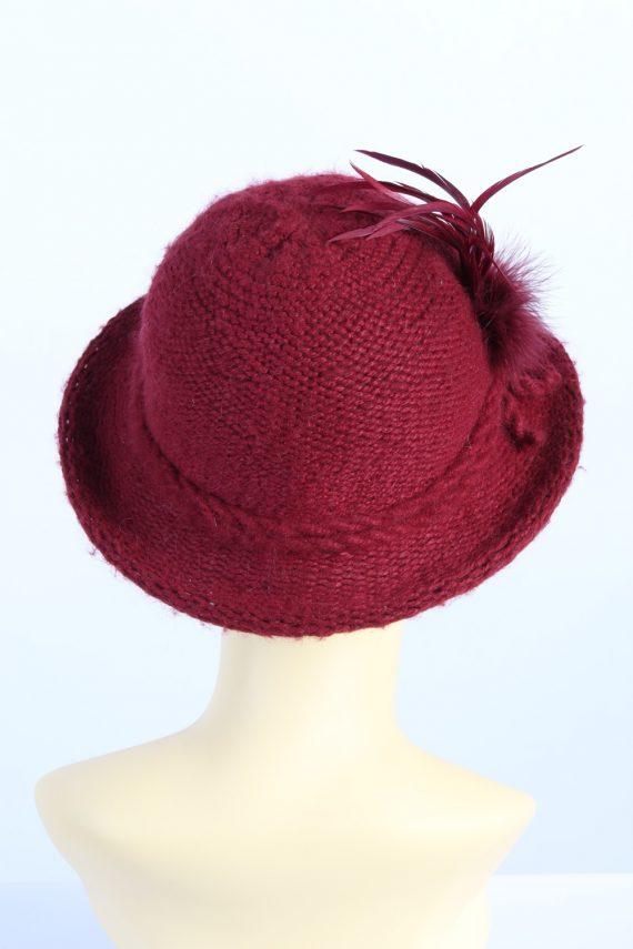 Vintage 1990s Fashion Womens Brim Knit Hat Red HAT1111-123475