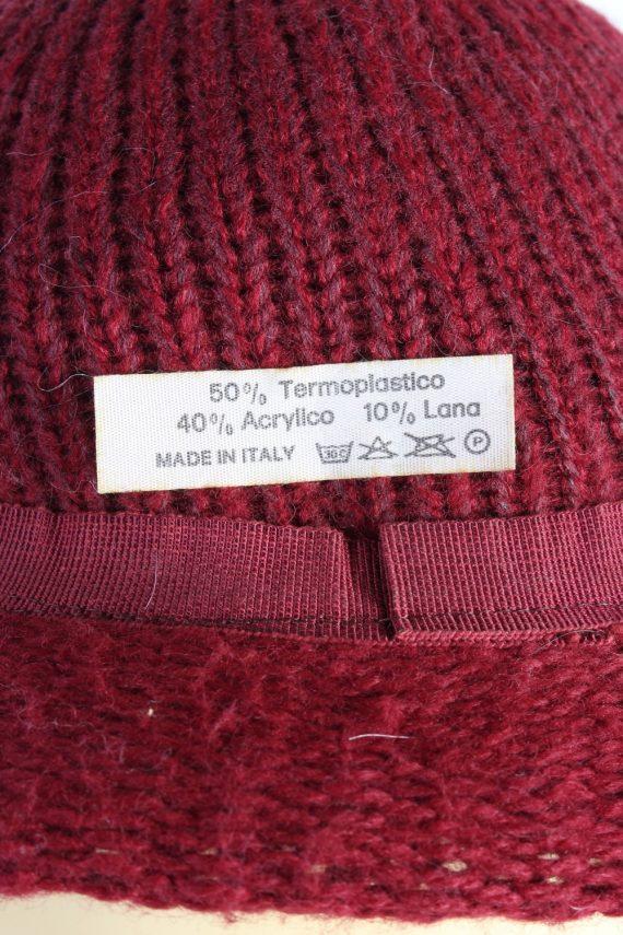 Vintage 1990s Fashion Womens Brim Knit Hat Red HAT1111-123476