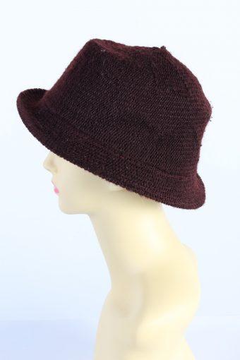 Vintage H&M Divided 1990s Fashion Womens Brim Knit Hat Bordeaux HAT1112-123478