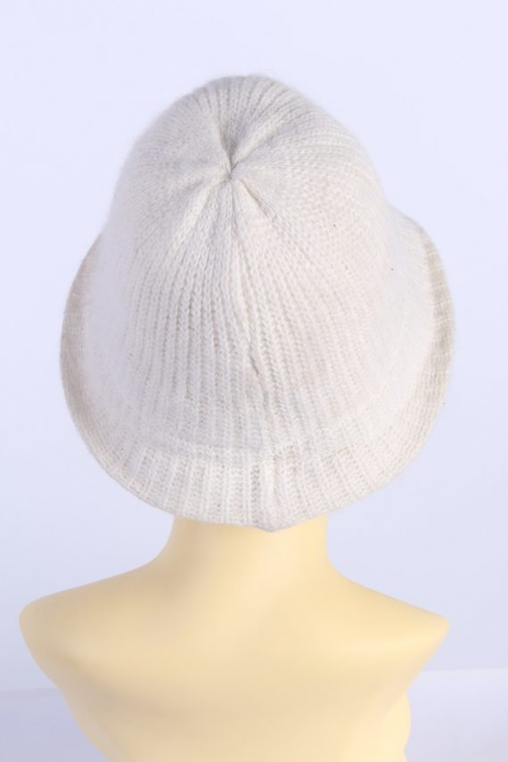 Vintage H&M Divided 1990s Fashion Womens Brim Lined Knit Hat White HAT1117-123499