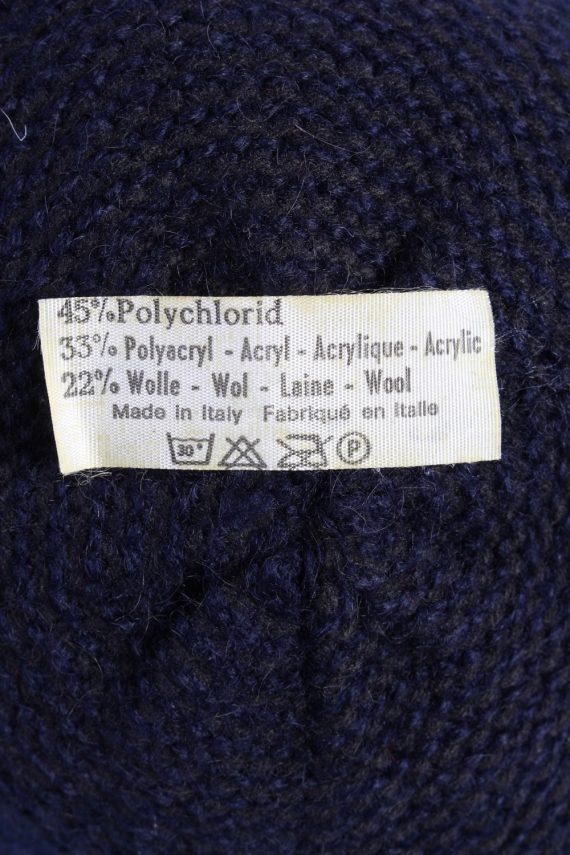 Vintage 1990s Fashion Womens Brim Knit Hat Navy HAT1119-123508
