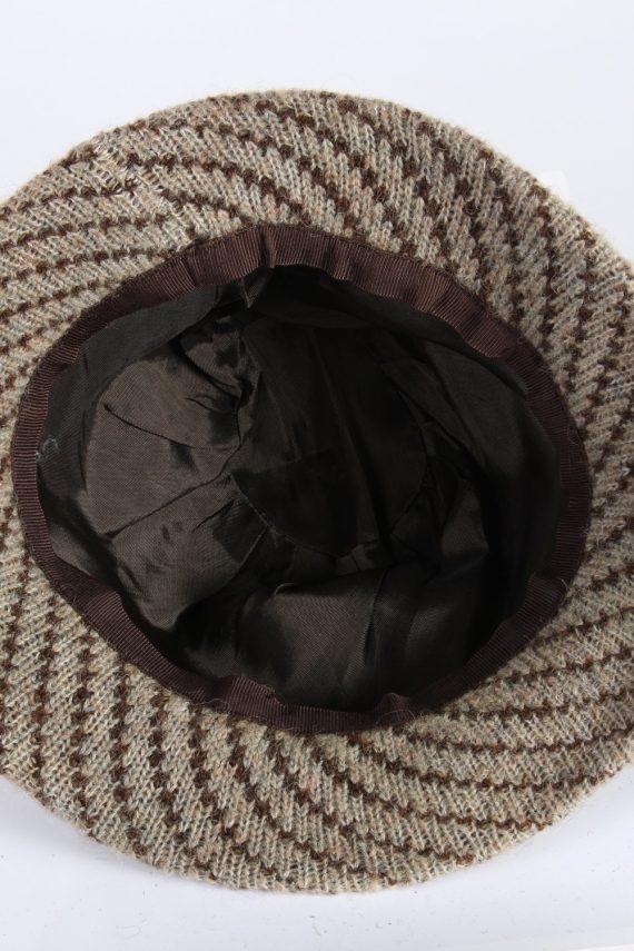 Vintage 1970s Fashion Womens Brim Lined Knit Hat Brown HAT1133-123564