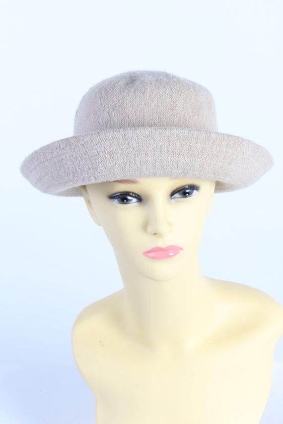Vintage C&A 1970s Fashion Womens Brim Hat Ligh Brown HAT1134-0