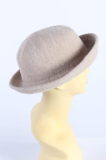 Vintage C&A 1970s Fashion Womens Brim Hat Ligh Brown HAT1134-123566