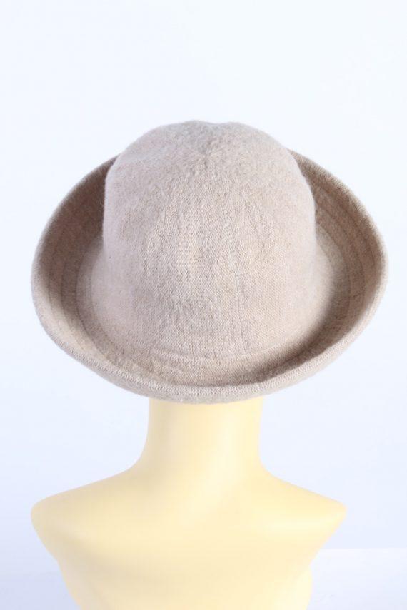 Vintage C&A 1970s Fashion Womens Brim Hat Ligh Brown HAT1134-123567