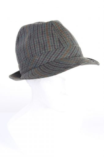 Vintage Chic Fashion Mens Lined Trilby Hat