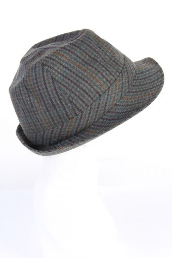 Vintage Chic 1990s Fashion Mens Lined Trilby Hat Multi HAT1149-123866