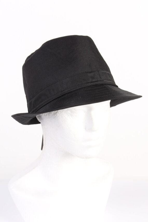 Vintage KJ Acccessories 1970s Fashion Mens Trilby Hat Black HAT1164-0