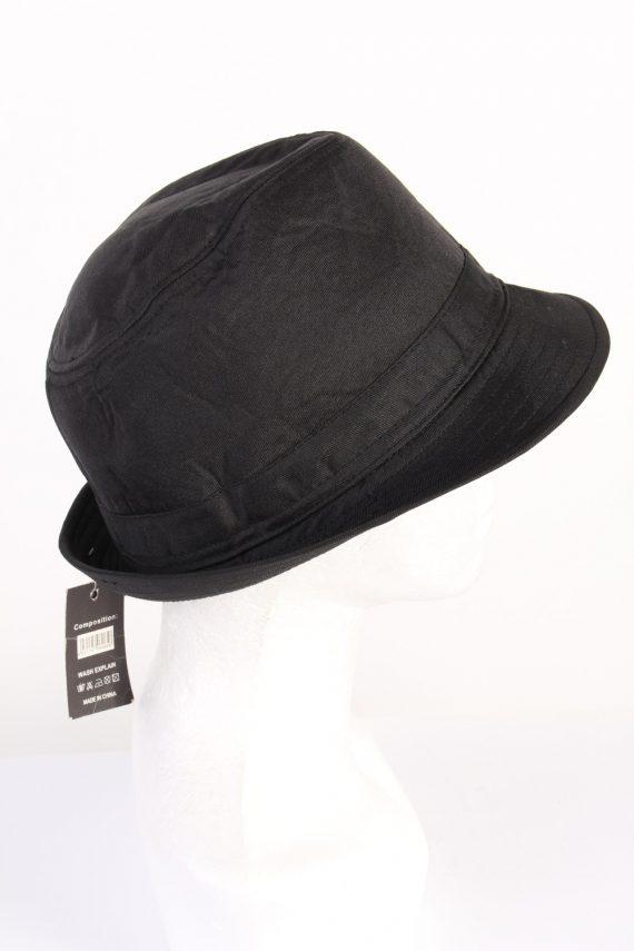 Vintage KJ Acccessories 1970s Fashion Mens Trilby Hat Black HAT1164-123926