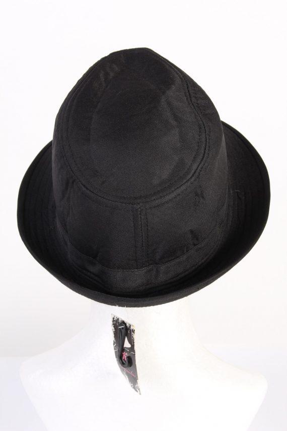 Vintage KJ Acccessories 1970s Fashion Mens Trilby Hat Black HAT1164-123927