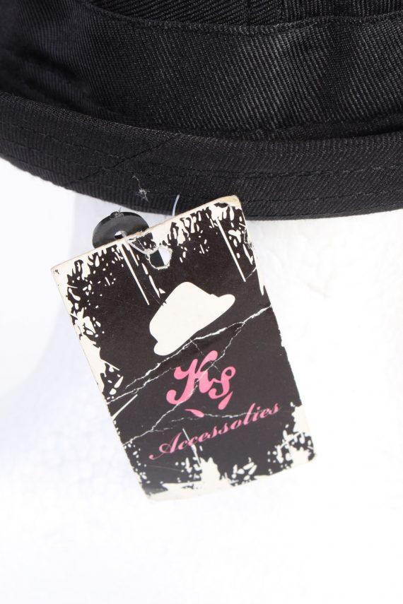 Vintage KJ Acccessories 1970s Fashion Mens Trilby Hat Black HAT1164-123928