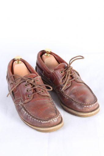 Vintage Van Bommel 3 Eye Boat Deck Lace-Up Lug Shoes 11 Inches Brown