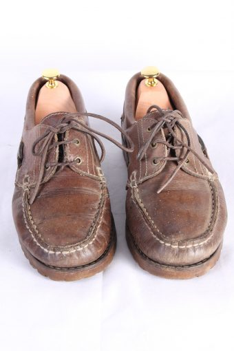 Vintage Van Bommel 3 Eye Boat Deck Lace-Up Lug Shoes 11 Inches Brown S803-123967