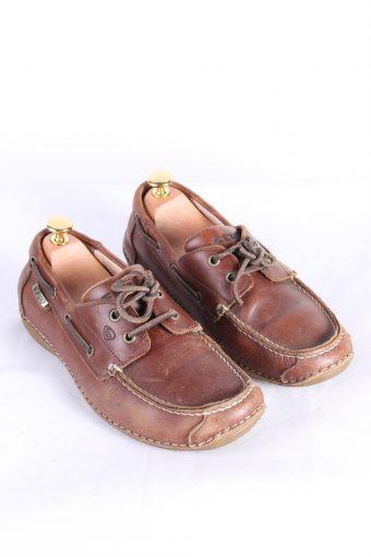 Vintage Stuf 2 Eye Boat Deck Lace-Up Lug Shoes UK 7 Brown