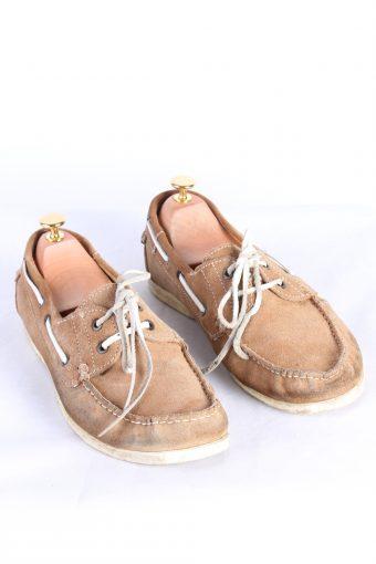 Vintage 2 Eye Boat Deck Lace-Up Lug Shoes 43 Brown