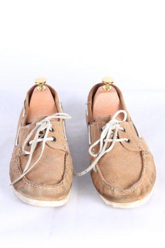 Vintage 2 Eye Boat Deck Lace-Up Lug Shoes 43 Brown S813-124007