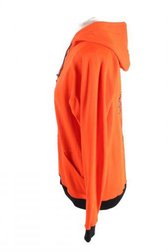 Vintage Budo Sport Womens Tracksuit Top 7 Orange -SW2430-122358