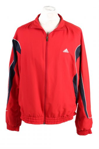 Adidas Track Top 90s Retro High Neck Red L