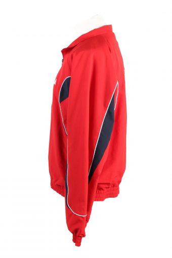 Vintage Adidas Mens Full Zip Tracksuit Top 44/46 Red -SW2456-124047